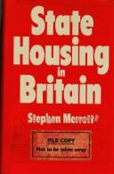 Cover of: State housing in Britain