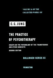 Cover of: The Practice of Psychotherapy | Carl Gustav Jung