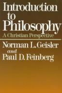 Cover of: Introduction to philosophy: a Christian perspective