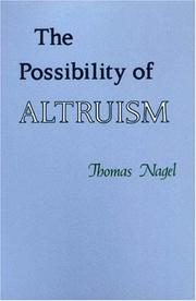Cover of: The possibility of altruism