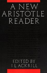 Cover of: A New Aristotle Reader | J. L. Ackrill
