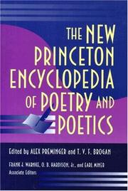 Cover of: The New Princeton encyclopedia of poetry and poetics |