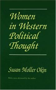 Cover of: Women in Western political thought | Susan Moller Okin