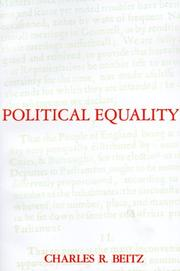 Cover of: Political equality: an essay in democratic theory