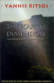 "Cover of: The fourth dimension | GiannД""s Ritsos"
