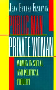 Cover of: Public man, private woman