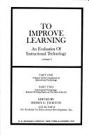 Cover of: To improve learning