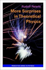 Cover of: More surprises in theoretical physics