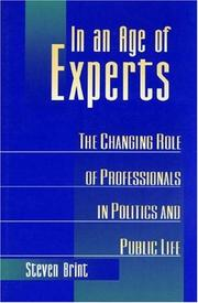Cover of: In an Age of Experts | Steven Brint