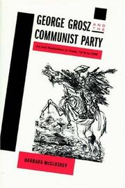 Cover of: George Grosz and the Communist Party