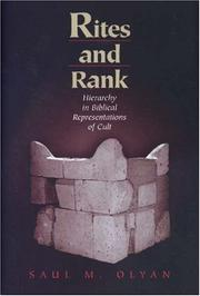 Cover of: Rites and rank