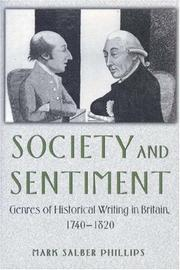 Cover of: Society and sentiment