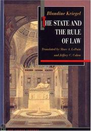 Cover of: The state and the rule of law | Blandine Kriegel