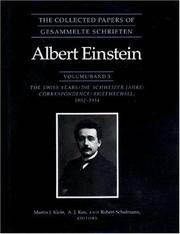 Cover of: The Collected Papers of Albert Einstein, Volume 5: The Swiss Years