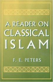 Cover of: A Reader on classical Islam