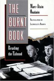 Cover of: The burnt book: reading the Talmud