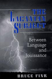 Cover of: The Lacanian subject