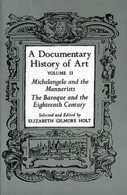 Cover of: A Documentary History of Art Vol. II
