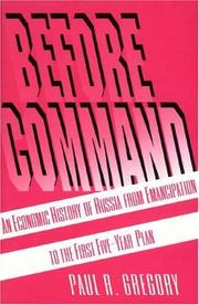Cover of: Before command