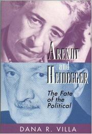 Cover of: Arendt and Heidegger