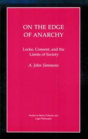 On the edge of anarchy by A. John Simmons