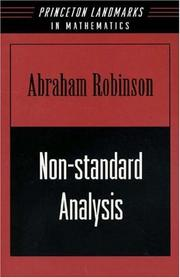 Cover of: Non-standard analysis