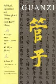 Cover of: Guanzi