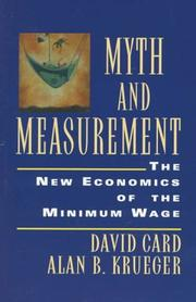 Cover of: Myth and Measurement | David Card