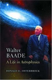 Cover of: Walter Baade