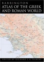 Cover of: Barrington Atlas of the Greek and Roman World by Richard J. A. Talbert