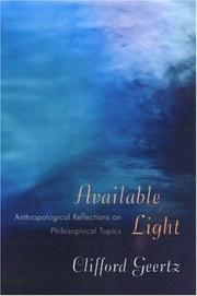 Cover of: Available Light