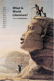 Cover of: What is world literature?