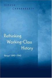 Cover of: Rethinking working-class history