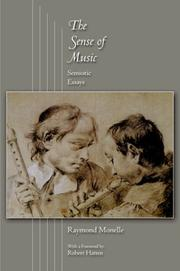 Cover of: The Sense of Music | Raymond Monelle