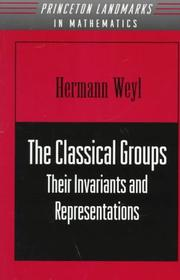 Cover of: The classical groups