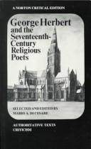 Cover of: George Herbert and the seventeenth-century religious poets