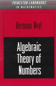 Cover of: Algebraic theory of numbers