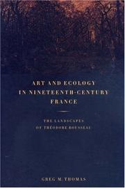 Cover of: Art and ecology in nineteenth-century France