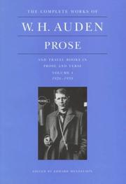 Cover of: Complete works of W. H. Auden
