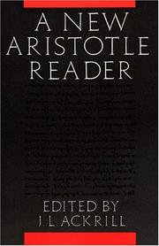 Cover of: A new Aristotle reader