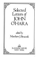 Cover of: Selected letters of John O'Hara | John O'Hara