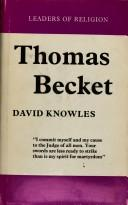 Cover of: Thomas Becket