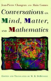 Cover of: Conversations on mind, matter, and mathematics