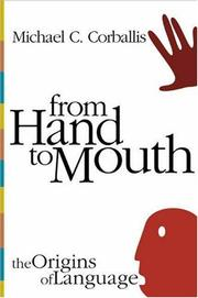 Cover of: From hand to mouth | Michael C. Corballis