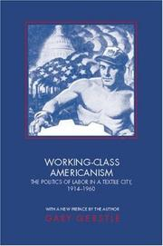 Cover of: Working-class Americanism