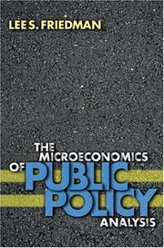 Cover of: The Microeconomics of Public Policy Analysis