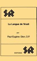 Cover of: La langue de Ya'udi