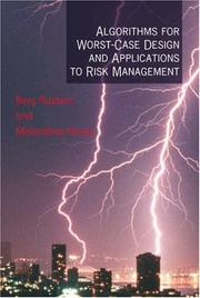 Cover of: Algorithms for worst-case design and applications to risk management