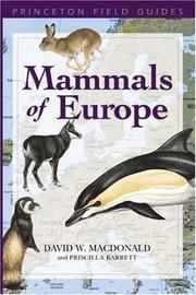 Cover of: Mammals of Europe | David W. Macdonald