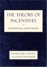 Cover of: The theory of incentives |